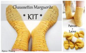 Kit pour chaussettes au crochet